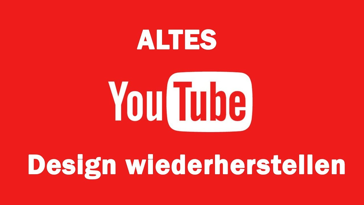 Youtube Design ändern