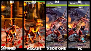 Killer Instinct RIPTOR Graphic Evolution 1994-2016 | SNES ARCADE XBOX ONE PC | PC ULTRA