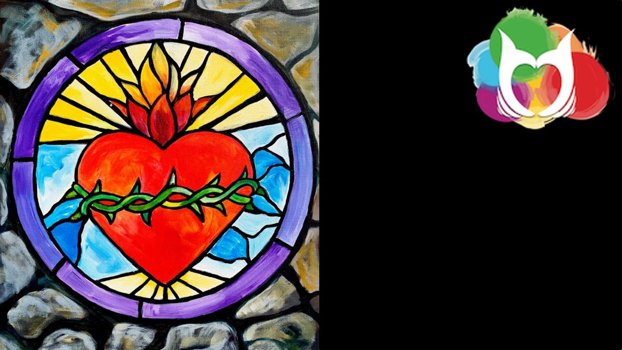 Stained Glass Stone Window Step By Acrylic Painting Beginners