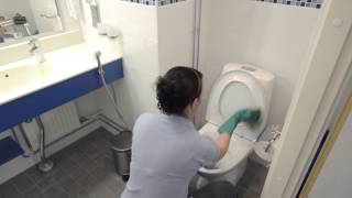 WC - istuimen puhdistus - suihkepullo