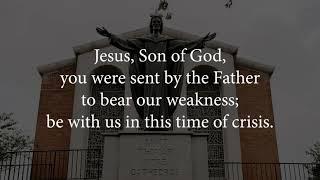 Bishop Burbidge's Prayer to Jesus for Healing and Guidance during the Coronavirus Pandemic
