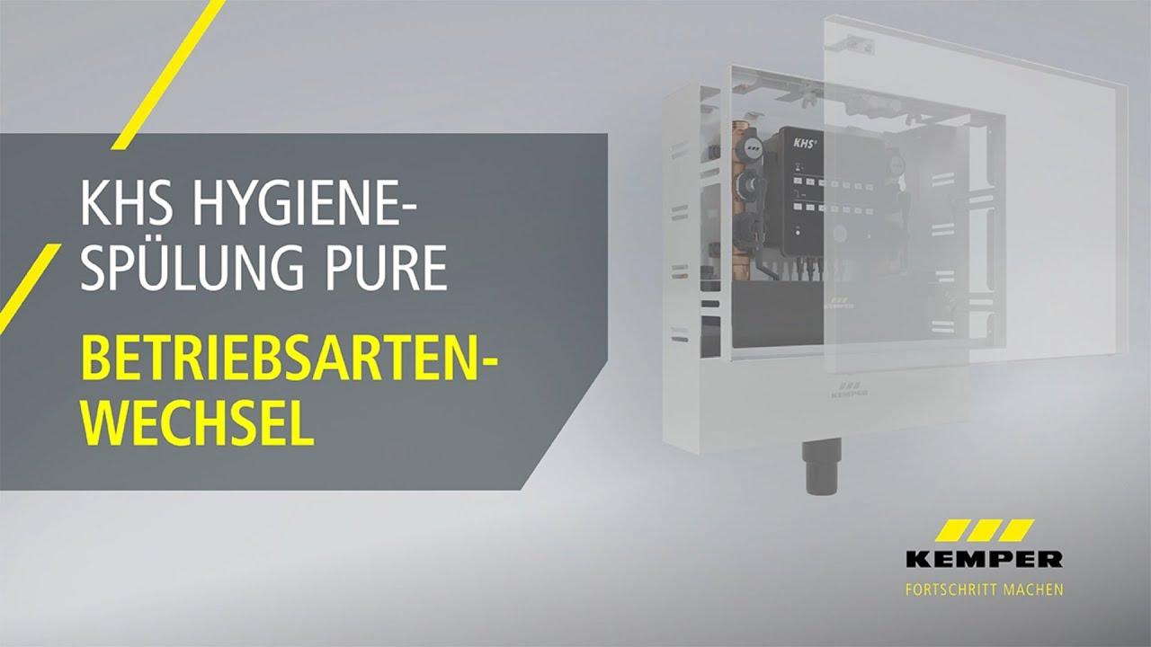 Youtube Video: Betriebsartenwechsel KHS Hygienespülung PURE