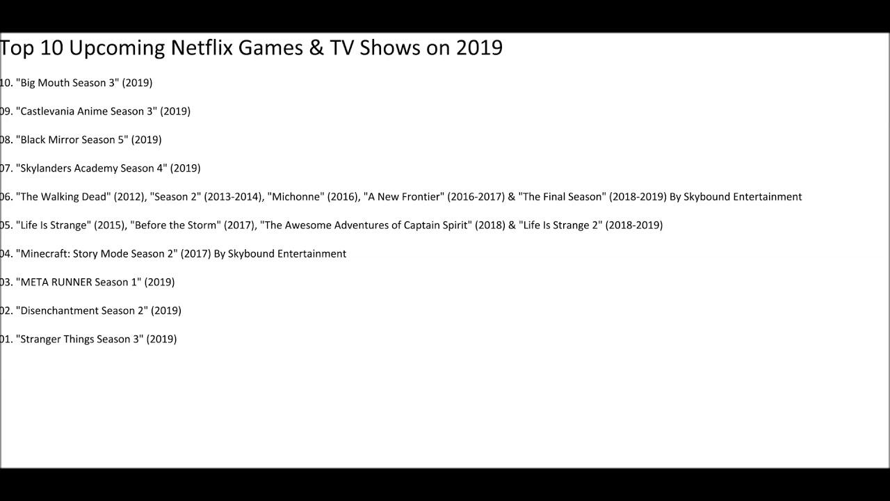 best tv shows netflix 2019