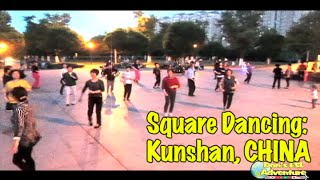 Lively Square Dancing in Kunshan, China