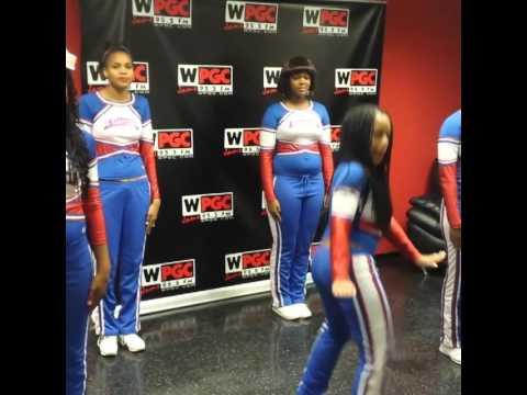 Anacostia High School Cheerleaders Takeovaaaa WPGC!!!