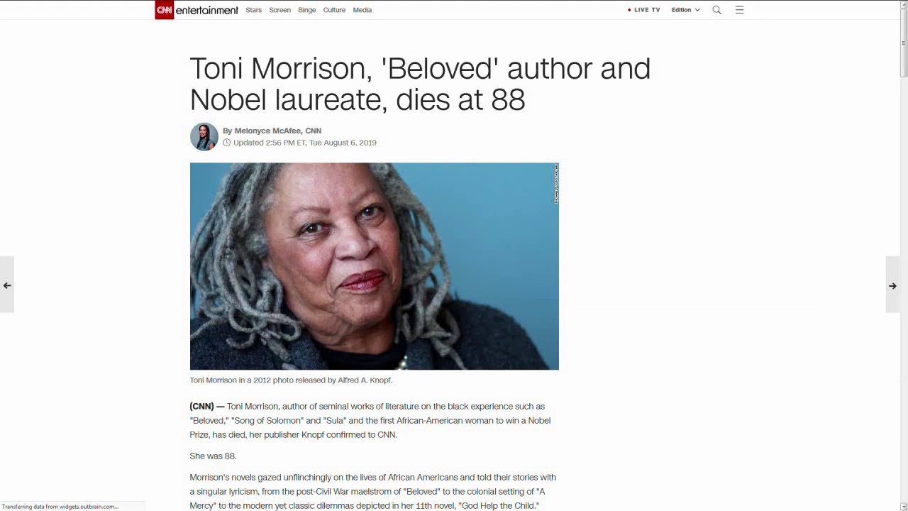 Toni Morrison Taught Me How to Think