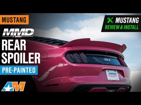 2015-2020 MMD V-Series Rear Spoiler - Pre-Painted Review & Install