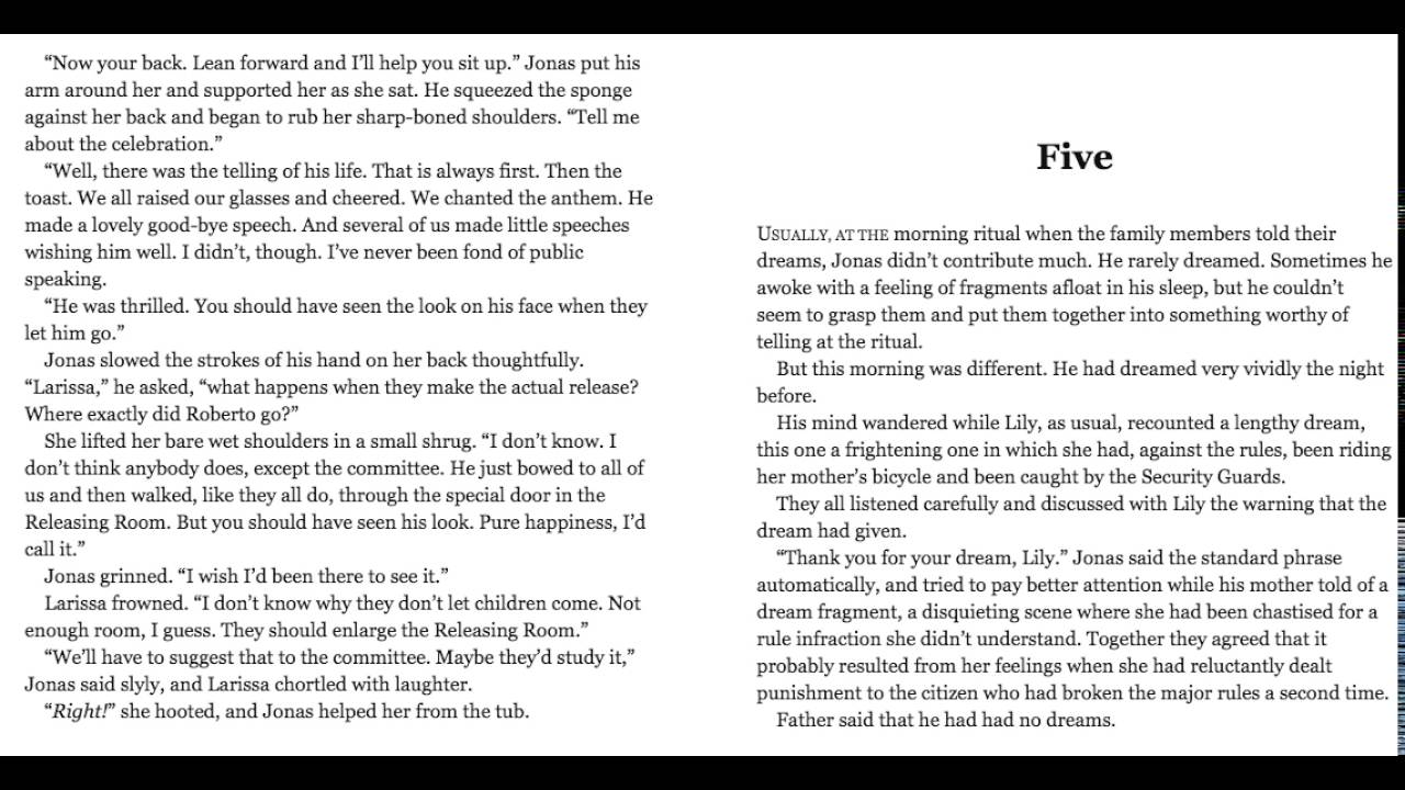 the giver chapter 12 summary