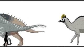Сравнение роста динозавров и человека!