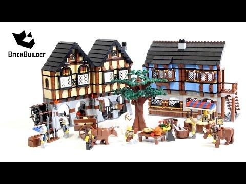 Lego Castle 10193 Medieval Market Village - Lego Speed Build - YouTube
