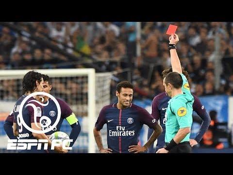 Neymar gets red card in PSG