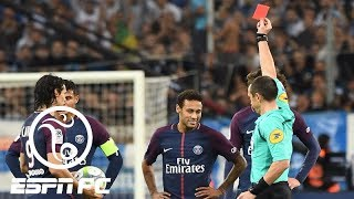 Neymar gets red card in PSG's disappointing draw at Marseille | ESPN FC