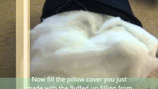 Make Cushions- easy way to reuse your old flat pillow and make them into new cushions