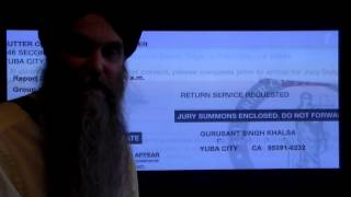 Sikh banned from wearing dagger on Jury Duty in Yuba City California