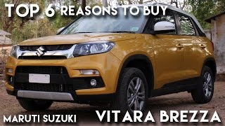 Top 6 reasons to buy Maruti Suzuki Vitara Brezza !!(Maruti Suzuki Vitara Brezza is here ! It was almost four years when it was presented as a concept in the auto expo. And finally came in the India market at the ..., 2016-04-09T15:59:03.000Z)