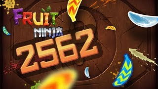 FRUIT NINJA EPIC 2562 POINTS RECORD | ALL BANANAS AT ONCE