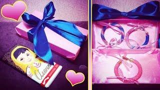 Vlog: Подарок от подписчицы!♡Вязаные браслеты из бисера!♡