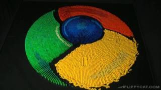 Google Chrominos - Google Chrome Icon Made From Dominos