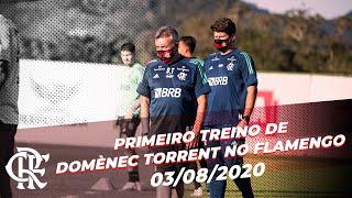Primeiro treino de Domènec Torrent no Flamengo - 03/08/2020