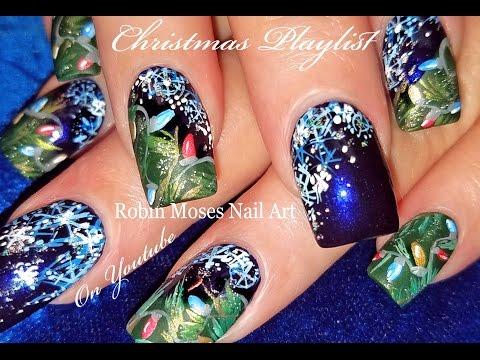 easy christmas nails cute diy