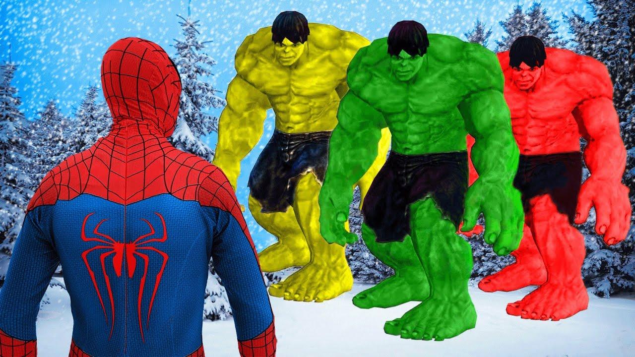 Spiderman VS Team Angry Hulk