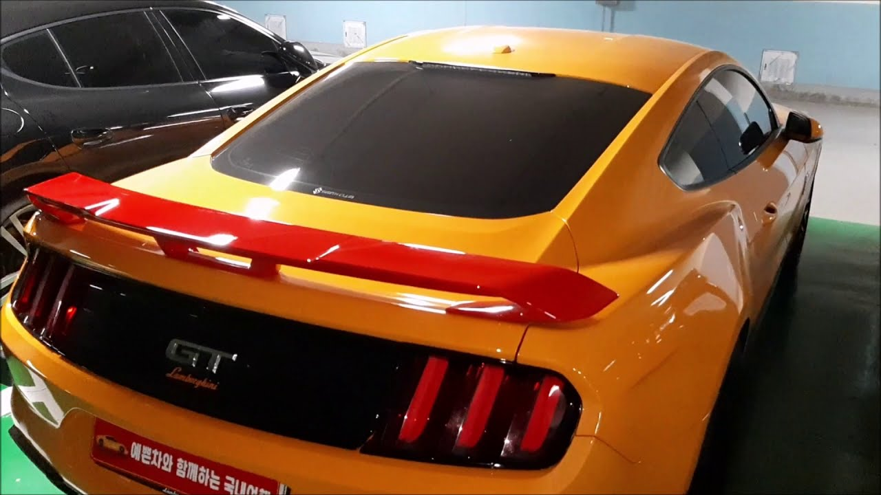 머스탱 장단점 및 스포일러 자가 교체 Ford Mustang Gt spoiler replacement work self maintenance