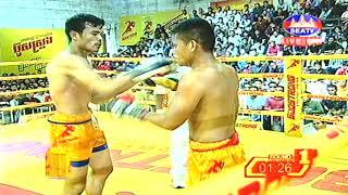 Kun Khmer, ឡុង សាវលិញ Vs ឆាំ គឹមហុង | Long Savlinh Vs Chham Kimhong, 5 Aug 2018 | Fights Zone