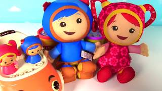 TEAM UMIZOOMI Nick Jr - Learn Colors with Play Doh Surprise Toys - Milli, Geo, Bot, UmiCar