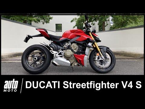 Ducati Streetfighter V4S 208 ch Essai POV Auto-Moto.com - Видео онлайн
