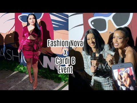 Fashion Nova x Cardi B Event!