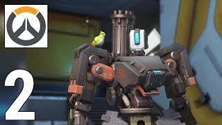 Overwatch Gameplay - Bastion Easy Win on Junkertown - Defend and Attack