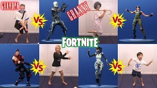 Fortnite Dance Challenge in Real Life with Granny and Grandpa Season 4 NEW DANCES | DavidsTV