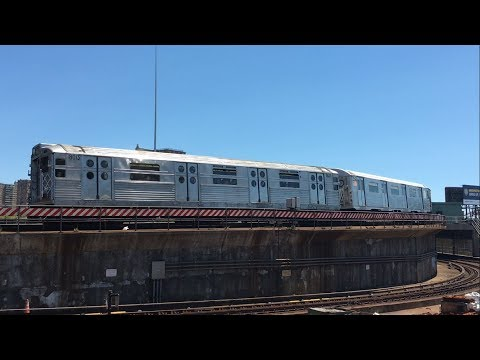BMT Subway: (F), (Q) and Train Of Many Metal action @ Coney Island-Stillwell Ave