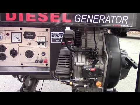 ETQ DG7250LE Diesel Generator Startup (And An Extra)