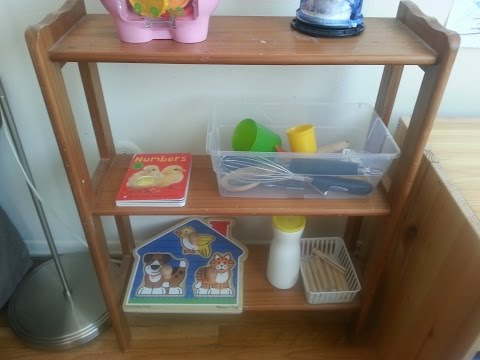 ShelfWork: Toddler Learning Shelf: Exploration Basket