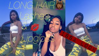 Long Hair, Lashes, & Lipgloss Look 💋😍