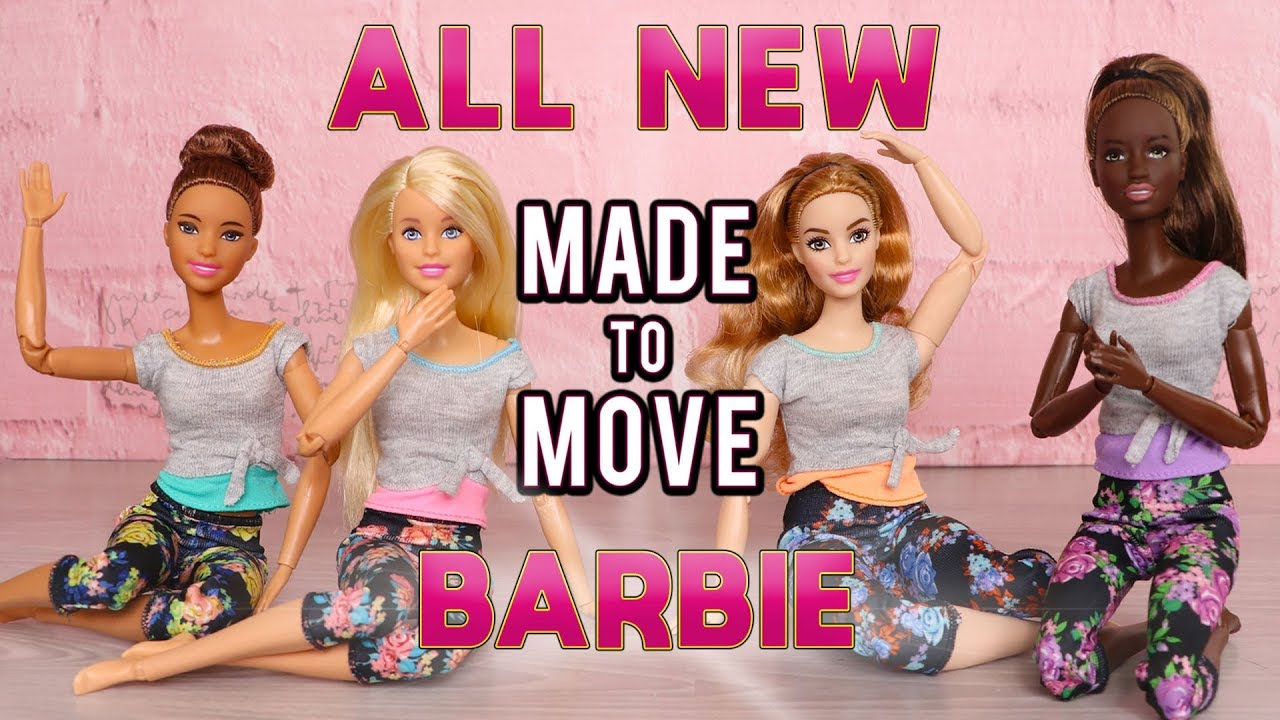 Brunette Barbie Made To Move Doll