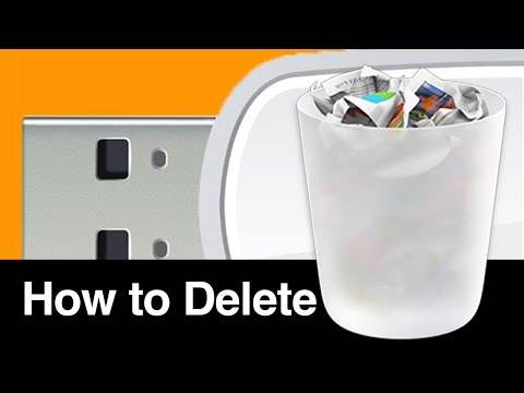 How to Delete files documents from USB Flash Drive on Mac