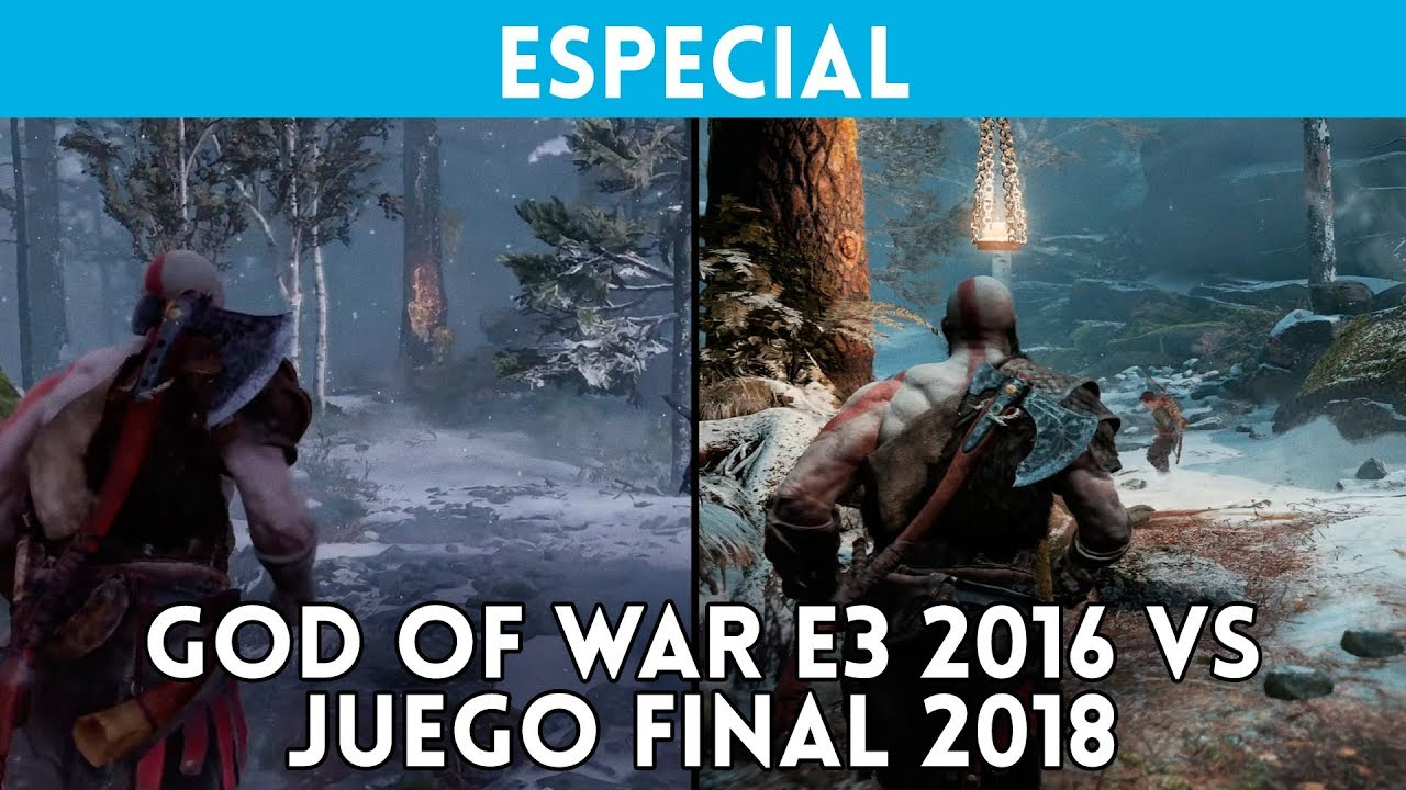 God Of War Comparativa E3 2016 Vs Ps4 Pro 2018 Gameplay Version