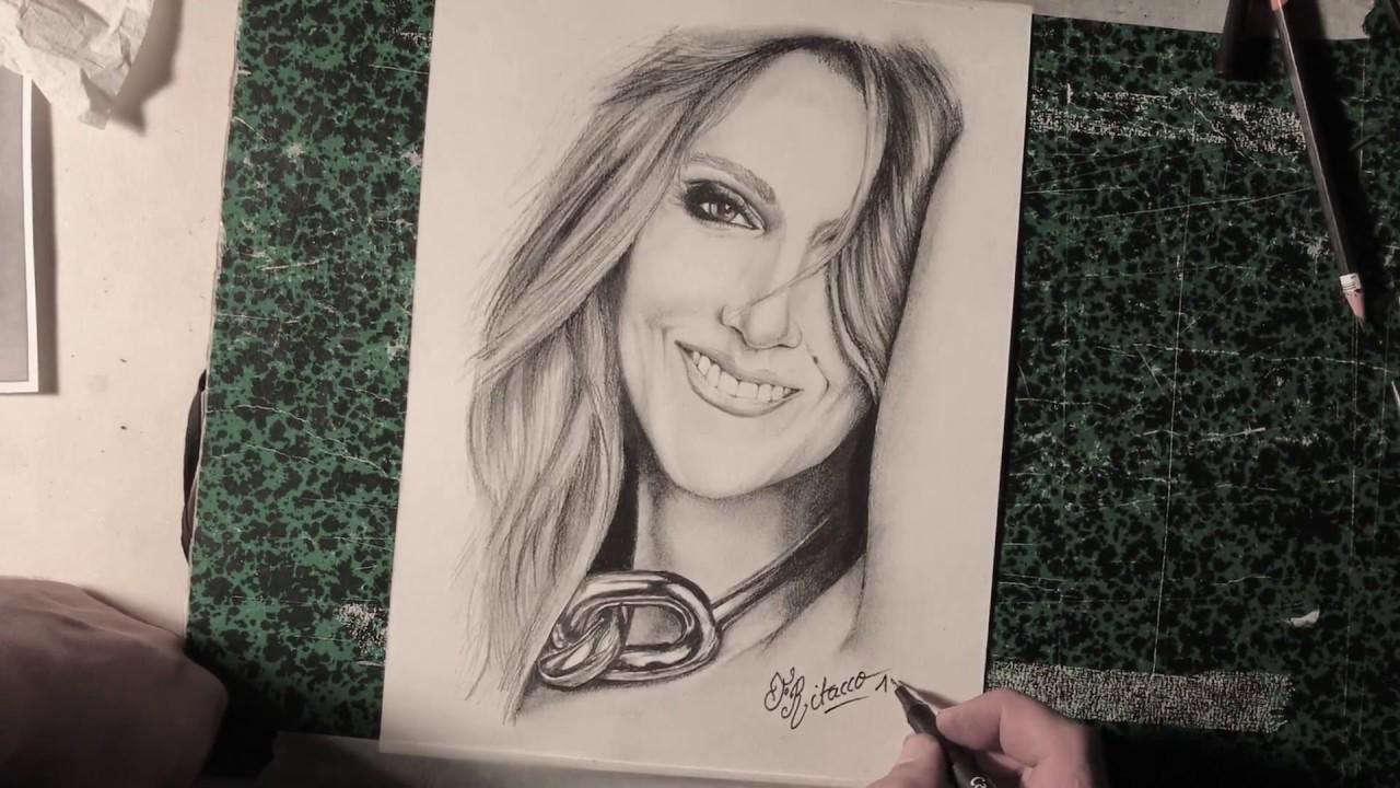 Céline dion dessin artistique portrait de la diva