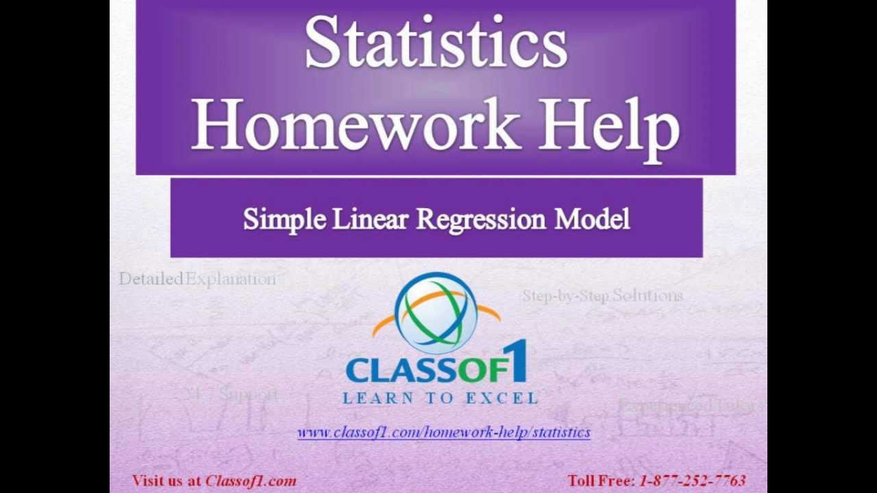 Regression homework help