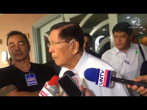 Enrile on cha-cha: House and Senate must vote separately