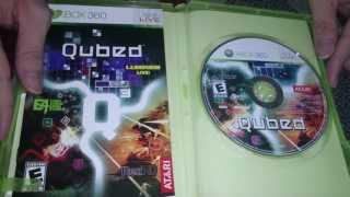 Nostalgamer Unboxes Q3 Qubed E4 Rez Lumines Live On Microsoft Xbox 360 US Import System Version