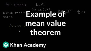 Repeat youtube video Finding where the derivative is equal to the average change