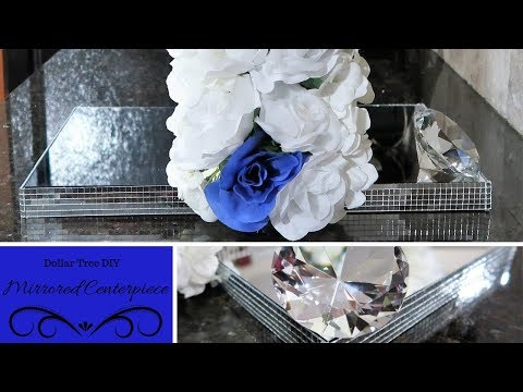 Dollar Tree DIY   Double Sided Mirrored Centerpiece   Tutorial   How To