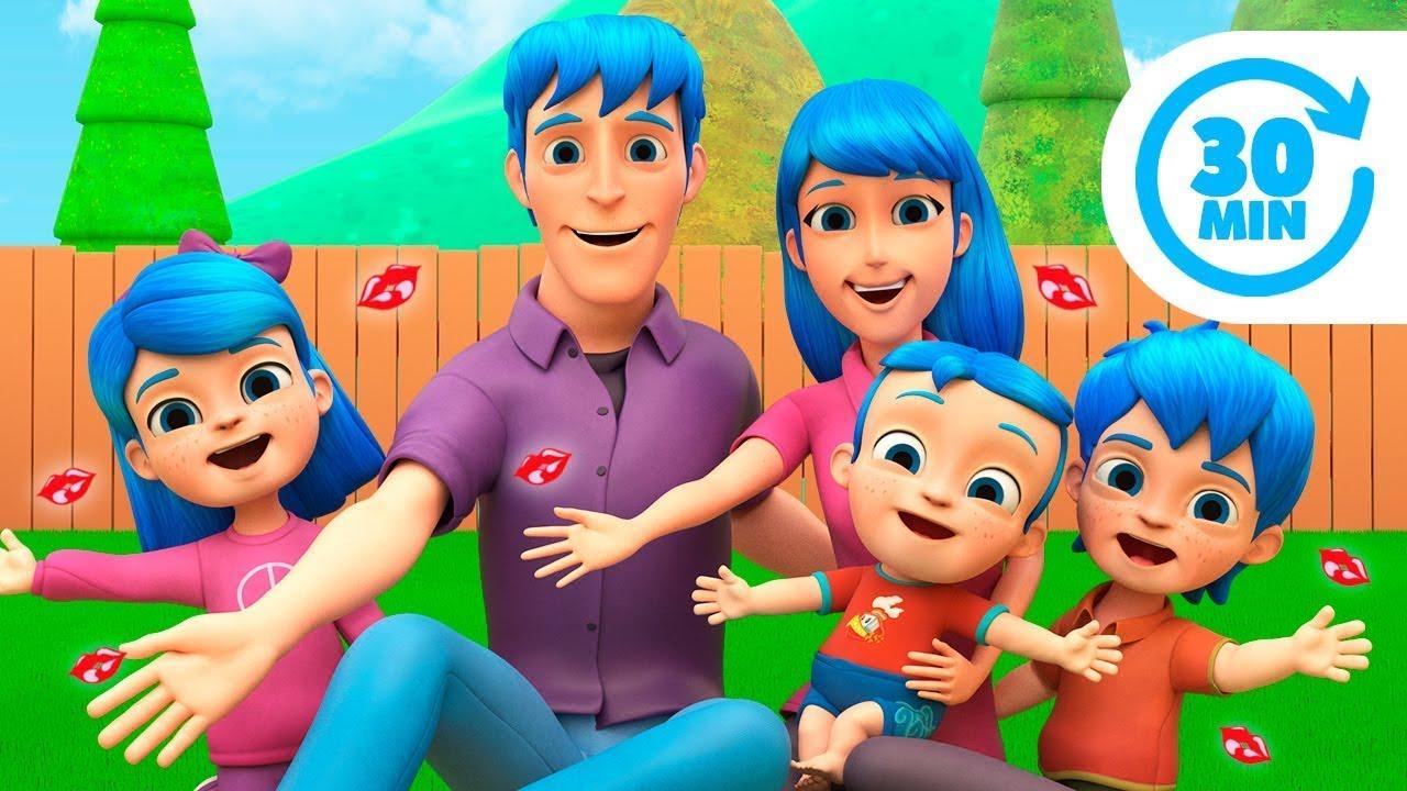 Te Doy un Beso Volador y Más Canciones Infantiles de La Familia Blu | El Reino Infantil