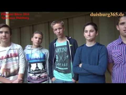 Steinbart Gymnasium - Schueler Klasse 8 zum Planspiel Boerse der Sparkasse Duisburg