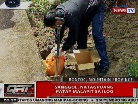 QRT: Sanggol, natagpuang patay malapit sa ilog sa Bontoc, Mt. Province