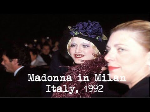 Italian News Report On Madonna In Milan To Promote Erotica & Sex
