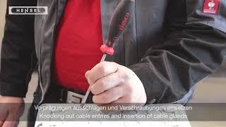 Mi - Vorprägungen ausschlagen / Knocking out cable entries